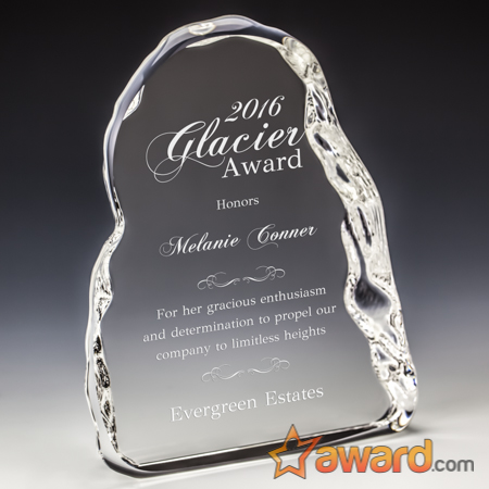 Personalized Crystal Ice Award