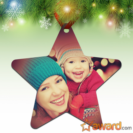 Personalized Star Photo Ornament