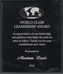 Custom Recognition Marble Plaque
